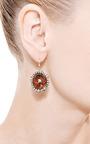 One Of A Kind Fire Opal And Irregular Diamond Earrings by Kimberly McDonald for Preorder on Moda Operandi
