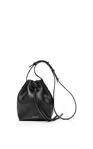 Tumble leather mini mini bag in black by MANSUR GAVRIEL Available Now on Moda Operandi
