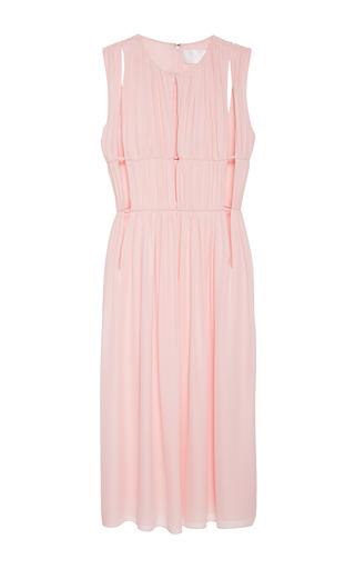 Double georgette desert rose dress by CUSHNIE ET OCHS Now Available on Moda Operandi