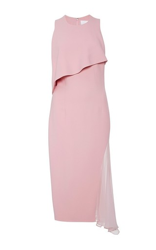 Chiffon accent desert rose dress by CUSHNIE ET OCHS Available Now on Moda Operandi