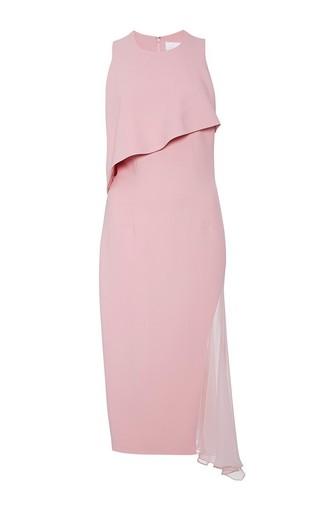 Chiffon accent desert rose dress by CUSHNIE ET OCHS Available Now on Moda Operandi