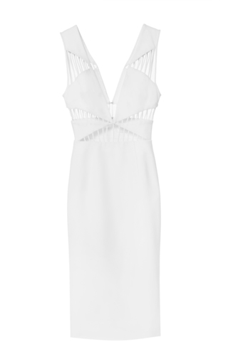 Cut-out white dress by CUSHNIE ET OCHS Available Now on Moda Operandi