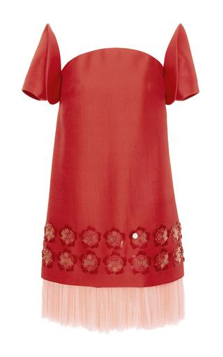 Embellished washed twill dress by DELPOZO Available Now on Moda Operandi