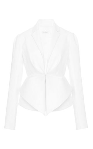 Double poplin white jacket by DELPOZO Available Now on Moda Operandi