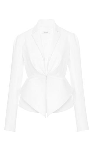 Double poplin white jacket by DELPOZO Available Now on Moda Operandi