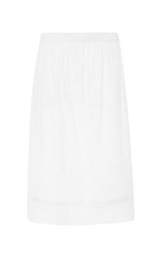 Plaid cotton white skirt by THAKOON ADDITION Now Available on Moda Operandi
