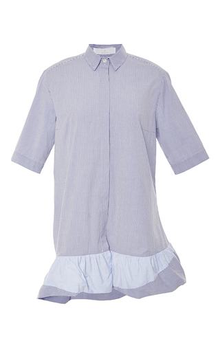Striped ruffle hem shirt dress by THAKOON ADDITION Now Available on Moda Operandi