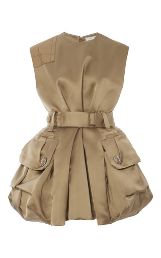 Gold silk satin twill dress by MARC JACOBS Now Available on Moda Operandi