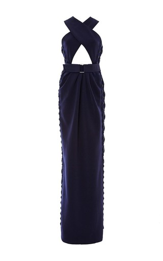 Belted criss cross maxi dress with cut out detail by MARC JACOBS Available Now on Moda Operandi