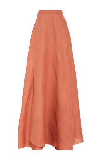 Bain de soleil washed silk gazar transformer skirt by ROSIE ASSOULIN Now Available on Moda Operandi