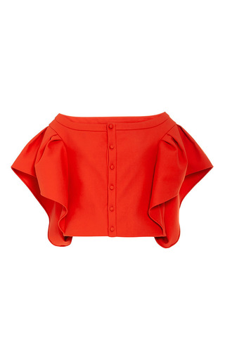 Bte cotton top with ruffle sleeves by ROSIE ASSOULIN Available Now on Moda Operandi
