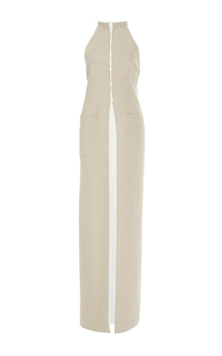 Linen blend vandam floorlength top by ROSIE ASSOULIN Now Available on Moda Operandi