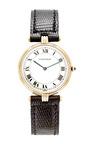 Vintage Cartier 18k Gold Vendome Mens Tri Color Gold Watch