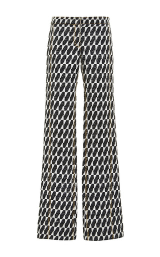 Raffia jacquard flared pants by DEREK LAM Available Now on Moda Operandi