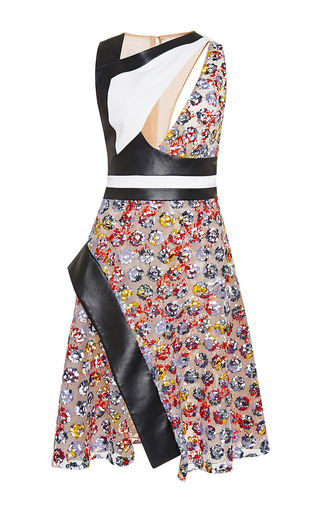 Floral lace asymmetric cut out dress by PRABAL GURUNG Now Available on Moda Operandi