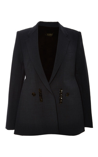 Cyclonic classic tux jacket w a-line 2d front by ELLERY Now Available on Moda Operandi