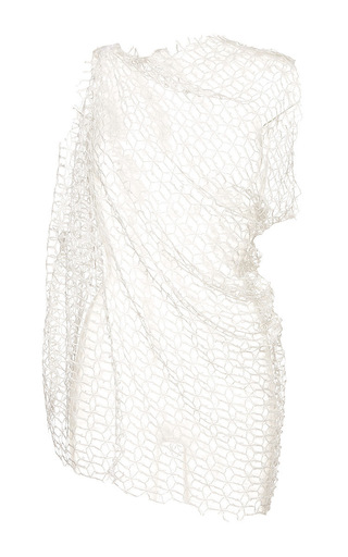Ivory jasper sleeveless drape top by ELLERY Available Now on Moda Operandi