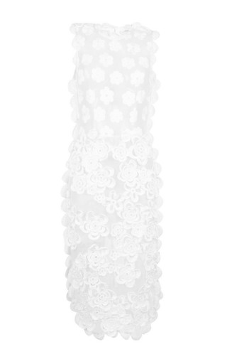 Hand-crocheted and embroidered sleeveless sheath dress by SIMONE ROCHA Available Now on Moda Operandi