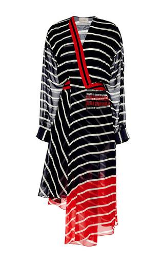 Striped silk georgette flintoff midi dress by PREEN BY THORNTON BREGAZZI Available Now on Moda Operandi