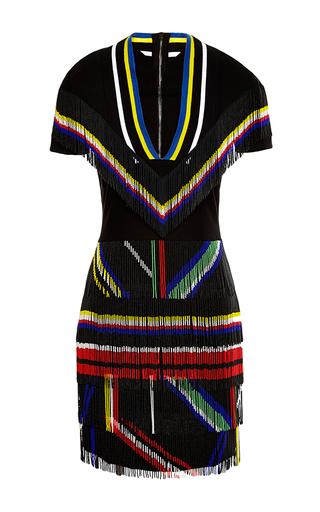 Ted satin and fringe saada dress by PREEN BY THORNTON BREGAZZI Available Now on Moda Operandi