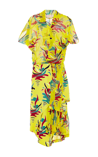 Voile st. carioca print short sleeve dress by MARNI Available Now on Moda Operandi