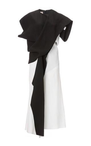 Diagonal colorblock short sleeve midi dress by MARNI Available Now on Moda Operandi