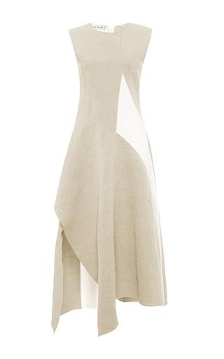 Cotton linen canvas sleeveless dress by MARNI Available Now on Moda Operandi