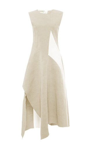Cotton linen canvas sleeveless dress by MARNI Available Now on Moda Operandi