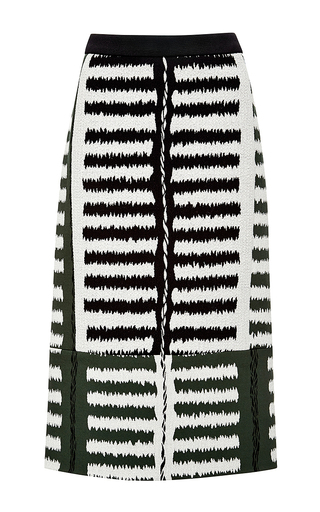 Stretch jacquard print skirt by MARNI Available Now on Moda Operandi