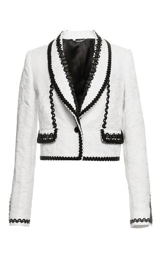Bianco brocade bolero jacket by DOLCE & GABBANA Available Now on Moda Operandi