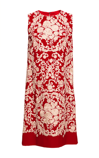 Cady embroidered sleeveless shift dress by DOLCE & GABBANA Available Now on Moda Operandi