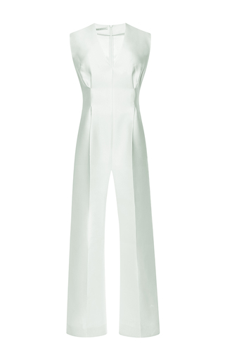 Leslie duchess satin sleeveless jumpsuit by EMILIA WICKSTEAD Available Now on Moda Operandi