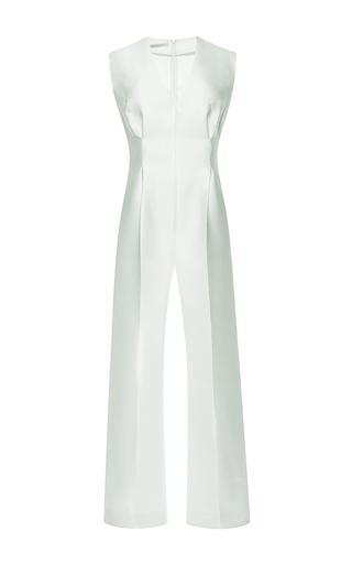 Leslie duchess satin sleeveless jumpsuit by EMILIA WICKSTEAD Available Now on Moda Operandi