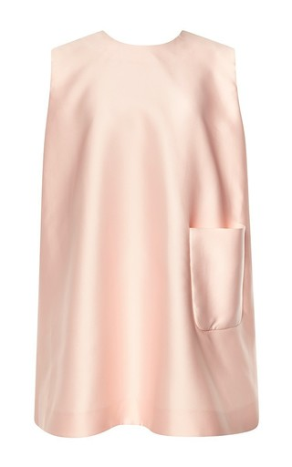 Presley duchess satin sleeveless tunic by EMILIA WICKSTEAD Available Now on Moda Operandi