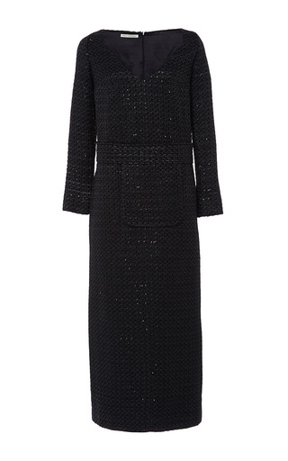 Sabrina sparkle long viscose dress by EMILIA WICKSTEAD Now Available on Moda Operandi