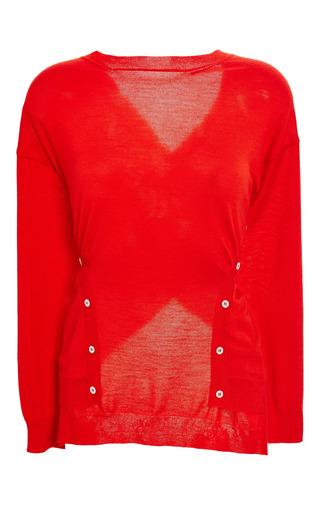 Coquelicot merino sweater by NINA RICCI Now Available on Moda Operandi