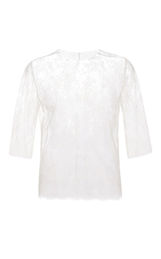 Chantilly lace tee by KATIE ERMILIO Now Available on Moda Operandi
