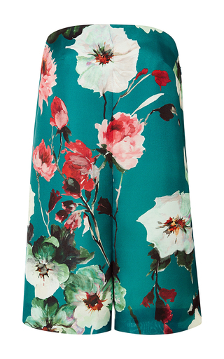 Floral triple organza short jumpsuit by DELPOZO Available Now on Moda Operandi