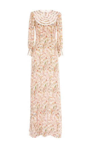 Izolda silk paisley maxi dress by VILSHENKO Available Now on Moda Operandi