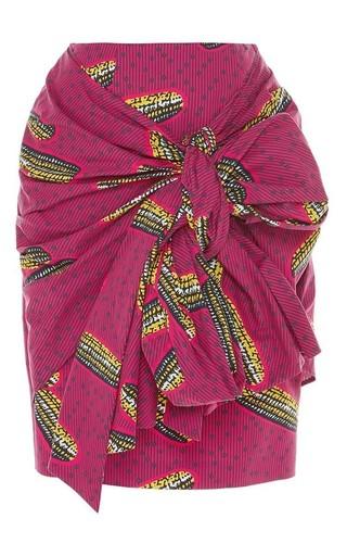 Dugongo printed draped skirt by STELLA JEAN Available Now on Moda Operandi
