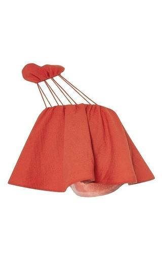 Flouncy top with shoulder straps by VIKA GAZINSKAYA Available Now on Moda Operandi