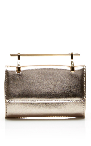 Mini fabricca leather bag in gold by M2MALLETIER Available Now on Moda Operandi