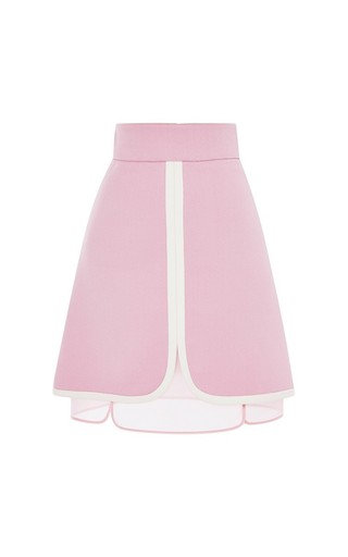 Giambattista valli double layer skirt in pink by GIAMBATTISTA VALLI Now Available on Moda Operandi