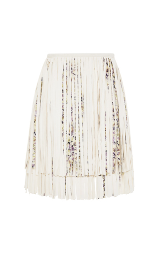 Fringed leather skirt by GIAMBATTISTA VALLI Available Now on Moda Operandi
