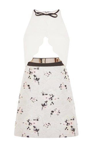 Cut out floral sleeveless dress by GIAMBATTISTA VALLI Available Now on Moda Operandi