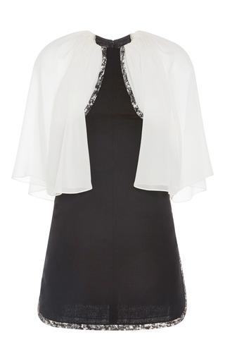 Sheer sleeve dress with side slit by GIAMBATTISTA VALLI Now Available on Moda Operandi