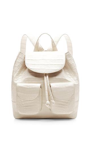 Mini crocodile back pack by NANCY GONZALEZ Available Now on Moda Operandi