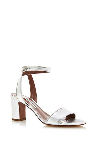 Silver nappa leather leticia sandal by TABITHA SIMMONS Now Available on Moda Operandi