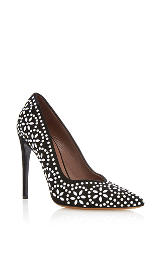 Desiree pointed pumps with beaded appliqué by TABITHA SIMMONS Now Available on Moda Operandi