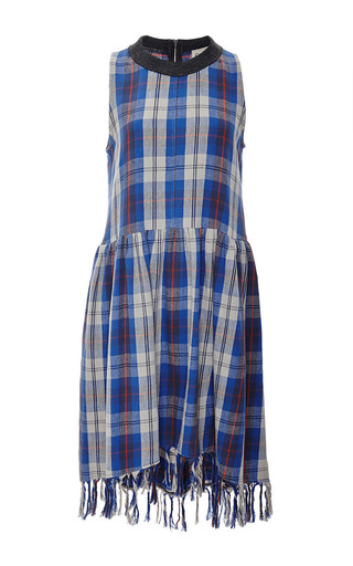 Plaid Flannel Sleeveless Dress by SEA Now Available on Moda Operandi